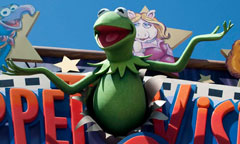 Sign for Muppet*Vision 3D 