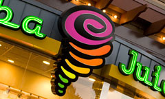 Sign for Jamba Juice