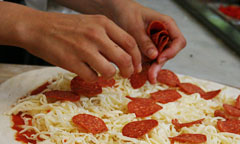 Preparing Pizza