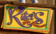 Sign for Rita's Baja Blenders