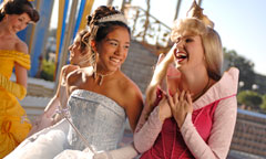 Princeses with Girls at Quinceanera