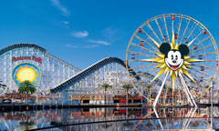 Mickey's Fun Wheel and California Screamin' Roller Coaster at Paradise Pier