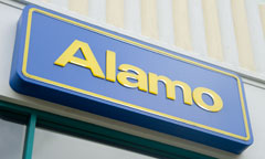 Alamo Rent A Car Sign