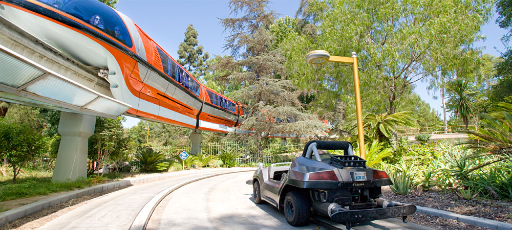 Autopia Car and Monorail