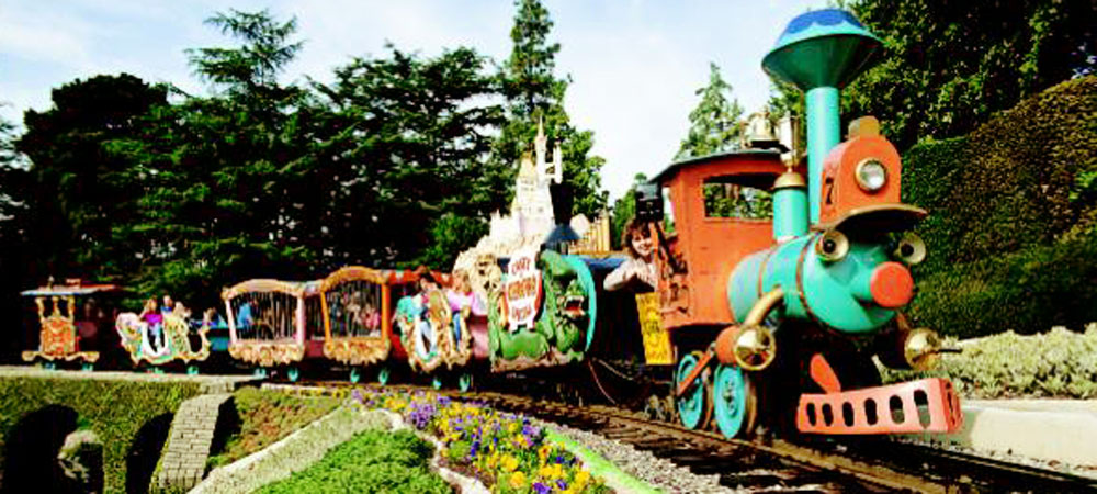 Guests on Casey Jr. Circus Train