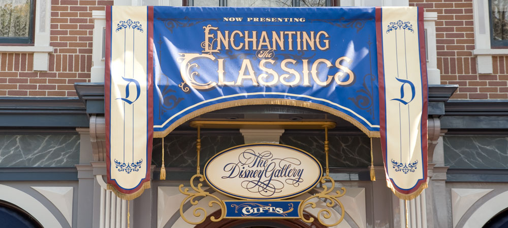 The Disney Gallery Sign with an Awning Banner 