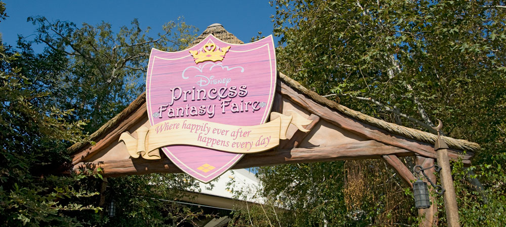 Disney Princess Fantasy Faire Sign