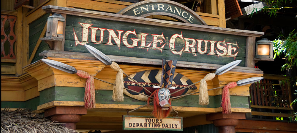 Jungle Cruise Entrance Sign