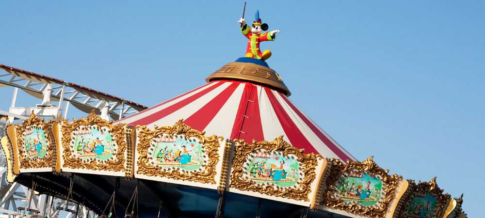 Mickey On Top of Attraction Canopy