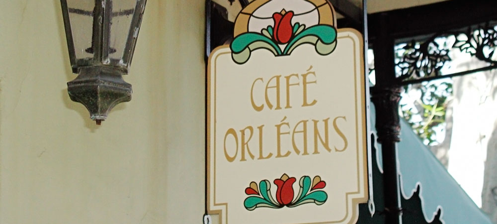 Caf Orleans Sign