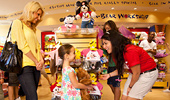 Inside the Build-a-Bear shop at the Downtown Disney District.