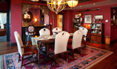 Dining area, with room for 6 Guests, in the Adventureland Suite.