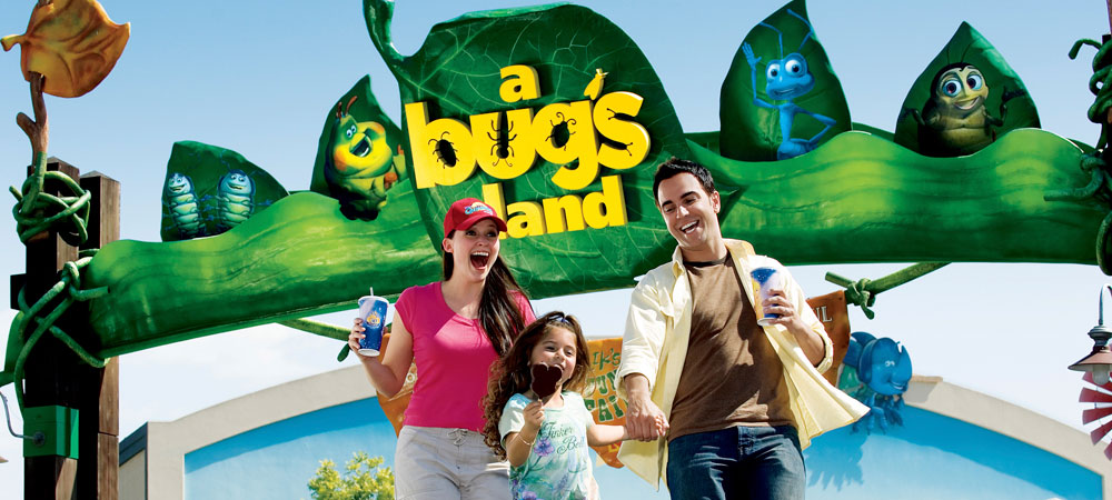 Family in Front of A Bug's Land
