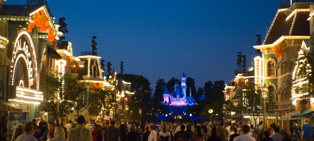 Main Street, U.S.A. at Night