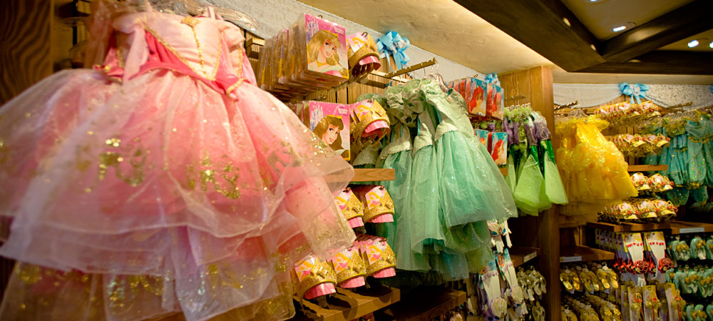 Disney Princess Merchandise on Display